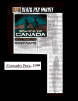 A very rare Boards of Canada interview, Alternative Press, 1999