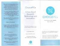 Choice PGx brochure