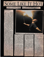 My first Los Angeles Times Story on Firedancing